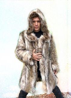 5e1ec1397 14 Best Men's faux fur images in 2018 | Faux fur coats, Mens fur ...