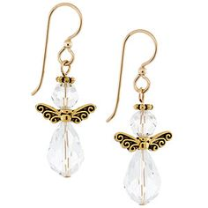 My Golden Angel Earrings | Fusion Beads Inspiration Gallery