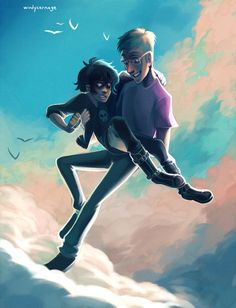 Heroes of Olympus - Jason Grace x Nico di Angelo - Jasico----solangelo for life but this is amazing