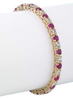Gordon James Diamond And Ruby Tennis Bracelet