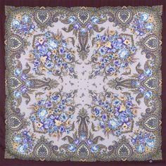 Павлопосадские платки : Магия чувств 1629-7, павлопосадский платок шерстяной с шелковой бахромой
