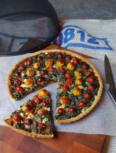 Curly Kale, Chorizo and Cherry Tomato Quiche | Dish