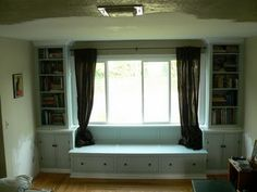 Window built in ideas - add cushions & different curtains...