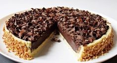 Luxusní čokoládový dort ala Panna cotta - My site Tart Recipes, Cheesecake Recipes, Sweet Recipes, Sweet Desserts, No Bake Desserts, Dessert Recipes, Panna Cotta, Torte Recepti, Tartelette