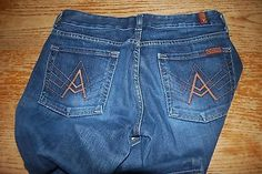 7 for all mankind jeans 28 x 30 A pocket Women's -Boot Cut