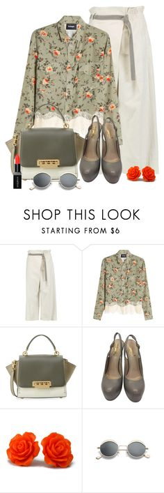 """""""Untitled #2101"""" by ebramos ❤ liked on Polyvore featuring Brunello Cucinelli, The Kooples, ZAC Zac Posen, Yves Saint Laurent and Smashbox"""