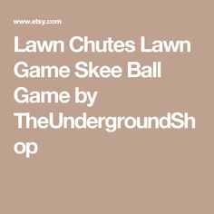 Lawn Chutes  Lawn Game Skee Ball Game by TheUndergroundShop