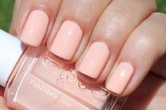 Peach Wedding Manicure