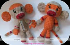 Sock Monkey Free Crochet Pattern ~ Amigurumi To Go