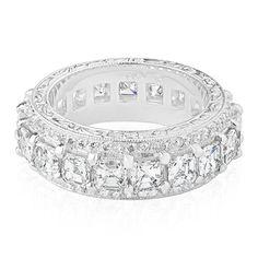 Asscher Cut Diamond, Diamond Cuts, Anniversary Bands, Eternity Bands, Sapphire, Gems, Engagement Rings, Jewelry, Enagement Rings