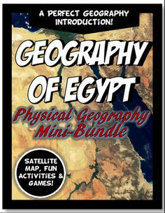 What a value! This bundle includes SEVEN current, engaging, versatile lessons to introduce the geography of Egypt:1. A Satellite Map Introduction: The satellite picture tells the story behind geography better with a realistic, clear picture. As you click, different geographical feature labels appear on the map.