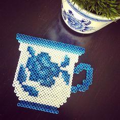 Delf blue cup hama perler beads by tamatek