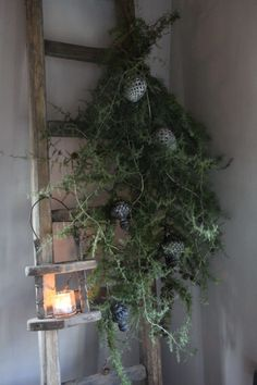 me ~ (notitle) - Lavender - ~ (notitle) - Lavender - Ladder Christmas Tree, Cozy Christmas, Scandinavian Christmas, Outdoor Christmas, Rustic Christmas, Vintage Christmas, Christmas Holidays, Christmas Decorations, Minimal Christmas