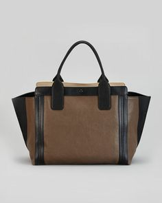 Alison Small East-West Colorblock Tote Bag, Gray by Chloe at Neiman Marcus. $1350