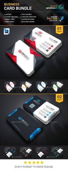 Business Card Bundle 2 in 1 - Corporate Business Cards Download here : http://graphicriver.net/item/business-card-bundle-2-in-1/16795881?s_rank=69&ref=Al-fatih
