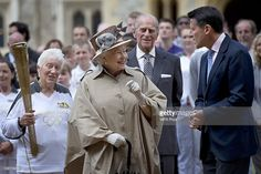 Queen Elizabeth II, Prince Philip, Duke of Edinburgh with Lord Sebastian Coe and…