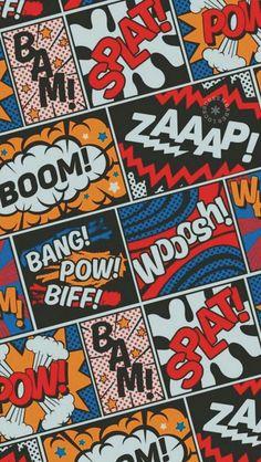 Modern Comic Book Superhero Pattern Color Colour Cartoon Lichtenstein Pop Art Art Print by seasonofvictory – ★~Popart~★ – retro Pop Art Wallpaper, Screen Wallpaper, Wallpaper Backgrounds, Iphone Wallpaper, Fashion Wallpaper, Comic Book Wallpaper, Wallpaper Awesome, Unique Wallpaper, Wallpaper Ideas