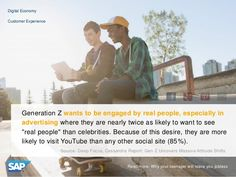 Generation Z wants to be engaged by real people, and because of this desire, they are more likely to visit YouTube than any other social site.