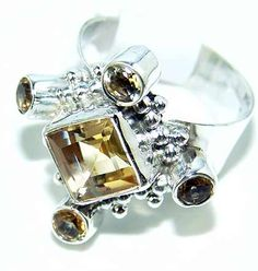 Beautiful item with Citrine Faceted Gemstone(s) set in pure 925 sterling silver.