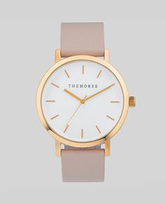 The Horse watch - Polished Rose Gold / Blush Leather $139