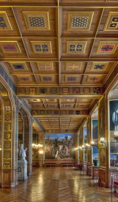 un aperçu de l'intérieur  *château de Versailles (près de Paris)