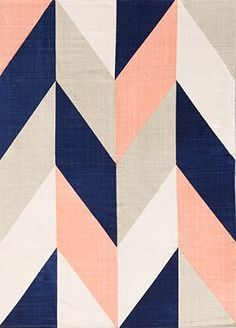 Rug: Assembly Home Chevron Flip Handmade Rug - Urban Outfitters Nursery color scheme: navy blue, peach, beige. Rug: Assembly Home Chevron Flip Handmade Rug - Urban Outfitters Girl Nursery Colors, Bedroom Colors, Girl Nursery Rugs, Navy Girl Nursery, Beige Nursery, Peach Nursery, 5x7 Rugs, Chevrons, Navy Chevron