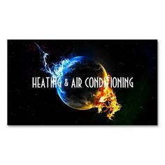 Ac heating cooling business card air conditioning companies heating and air conditioning business card reheart Image collections