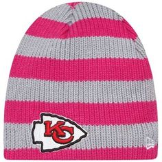 New Era Kansas City Chiefs Ladies Breast Cancer Awareness Knit Hat - Pink/Gray