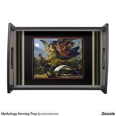 Mythology Serving Tray #Mythological #Mythology #Painting #Art #Vintage #Fashion #Tray