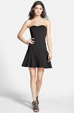 Dirty Ballerina Strapless Seam Detail Dress available at #Nordstrom