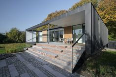 Møller Architects have designed the Villa R, a house located in a forest edge in Aarhus, Denmark, and is positioned as close to the trees as possible.Inspired by the unique relation to Interior Design Inspiration, Home Interior Design, Interior And Exterior, Villas, Architecture Details, Interior Architecture, Forest Design, Santa Teresa, Exterior Siding