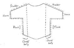 padrão de costura livre para uma camisa do cão