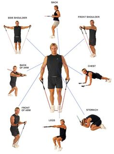 Eser resistance band provides a fun way to improve your flexibility and stamina. Many forms of exercises available to boost your health.Improve your flexibility through resistance band workout from Eser Marketing. Fitness Workouts, Sport Fitness, Mens Fitness, At Home Workouts, Fitness Tips, Fitness Models, Fitness Band, Training Exercises, Workout Exercises