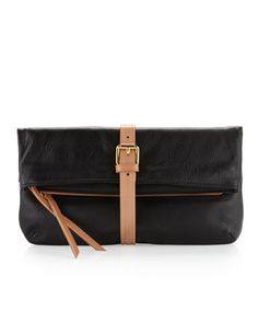 Buckle Clutch, Black by Christopher Kon at Last Call by Neiman Marcus.