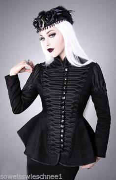 Restyle-Militaer-Jacke-Schwarz-Gothic-Lolita-Military-Jacket-Black-Steampunk-Coat