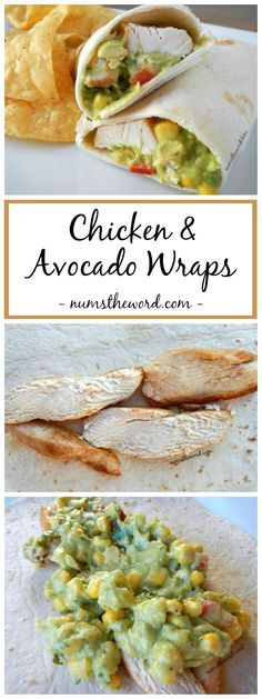 These simple Chicken & Avocado Wraps are perfect for lunch, dinner, school lunch or work lunch and only take minutes to put together. So incredibly flavorful, it's one of my favorite meals!