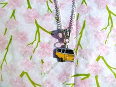 VW Bay Camper Van Necklace