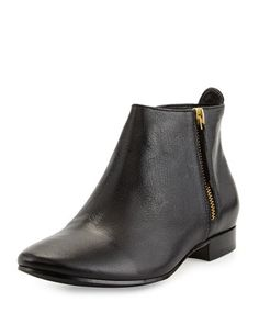 Belmont+Leather+Bootie,+Black+by+Cole+Haan+at+Neiman+Marcus.