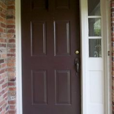 Dark Brown Exterior Door