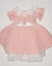 Crocheted dress with slip fits size 3T