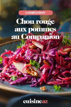 Une recette de chou rouge aux pommes cuisinée au Companion. #recette#cuisine#chou#chourouge #pomme Healthy Food, Healthy Recipes, Robot, Cabbage, Vegetables, Cooking Recipes, Balsamic Vinegar, Salmon, Sprouts