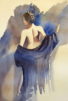 Watercolor Pencil Art, Watercolor Portraits, Watercolor Paintings, Woman Painting, Figure Painting, L'art Du Portrait, African Art Paintings, Beautiful Fantasy Art, Human Art