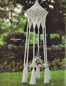 Vintage Macrame Patterns 1970s Tables Hanging Planters Novelty Bird Cage Vessals | eBay