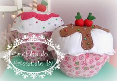 Cantinho do Artesanato by: Almofadas Cupcake