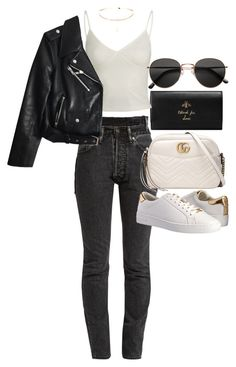 """Untitled #21638"" by florencia95 ❤ liked on Polyvore featuring Gucci, Vetements, Kate Spade, MICHAEL Michael Kors and H&M"