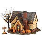 Department 56 Snow Village Halloween Lit, The Pumpkin House, 6.69-Inch
