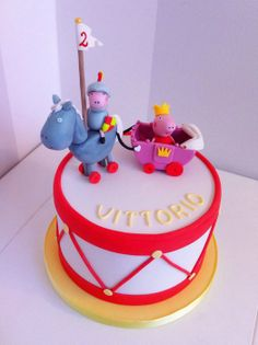 Sir George and Lady Peppa - by BellasBakery @ CakesDecor.com - cake decorating website