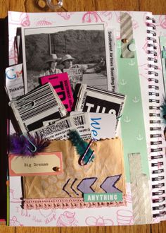 All of my travel paraphernalia from my last crafting trip. Smashed in my Cutesy Style Smash*book by K & Company