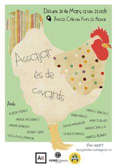 Cartell per Assajar és de covards de Marcel Bernat