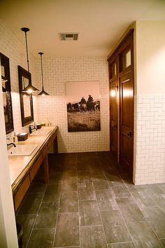 Cool ranch bathroom similar to the scheme I have chosen for our house